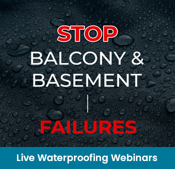 Live Waterproofing Webinars